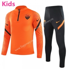2020-2021 Roma Orange Kids/Youth Soccer Tracksuit-GDP