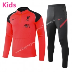 2020-2021 Liverpool Orange&Red Kids/Youth Soccer Tracksuit -GDP