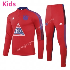 Joint Version 2020-2021 Bayern München Red Kids/Youth Soccer Tracksuit-GDP