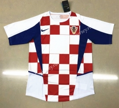 Retro Version 2002 Croatia Home Red& White Thailand Soccer Jersey AAA-HR
