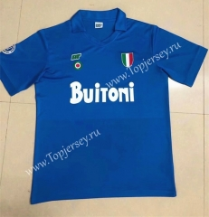 Retro Version 87-88 Napoli Home Blue Thailand Soccer Jersey AAA-HR