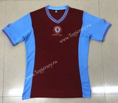 Retro Version 81-82 Aston Villa Home Red Thailand Soccer Jersey AAA-HR