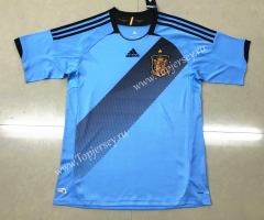 Retro Version 2012 Spain Away Blue Thailand Soccer Jersey AAA-HR