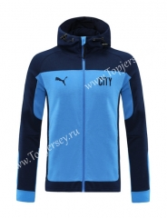 2020-2021 Manchester City Royal Blue Thailand Jacket With Hat-LH