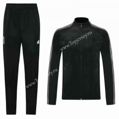 2020-2021 Juventus Black Thailand Soccer Jacket Uniform-KS