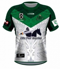 All Stars Maori White&Green Thailand Rugby Shirt