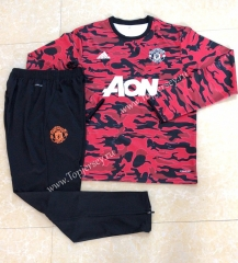 2020-2021 Manchester United Red Round Collar Thailand Soccer Tracksuit-411