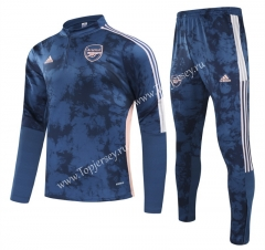 2020-2021 Arsenal Dark Blue(Pad printing )Kids/Youth Soccer Tracksuit-GDP