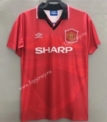 Retro Version 1994-1996 Manchester United Home Red Thailand Soccer Jersey AAA-811
