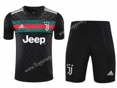 2020-2021 Juventus Black Thailand Training Soccer Uniform-418