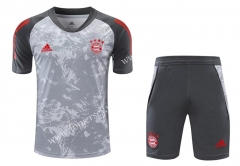2020-2021 Bayern München Light Gray Thailand Training Soccer Uniform-418