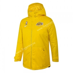 NBA Lakers Yellow Cotton Coat With Hat-815