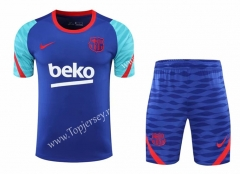 2020-2021 Barcelona Blue Thailand Training Soccer Uniform-418