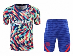 2020-2021 Barcelona Colorful Thailand Training Soccer Uniform-418