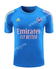 2020-2021 Arsenal Blue Thailand Training Soccer Jersey-418