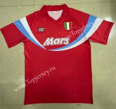 Retro Version 90-91 Napoli Red Thailand Soccer Jersey AAA-818