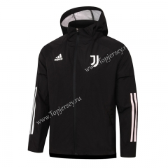 2020-2021 Juventus Black Trench Coats With Hat-815