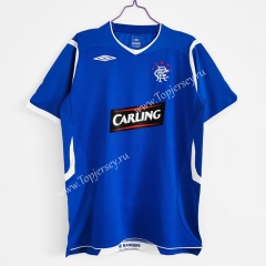 Retro Version 2008-2009 Rangers Home Blue Thailand Soccer Jersey AAA-C1046