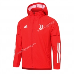 2020-2021 Juventus Red Trench Coats With Hat-815