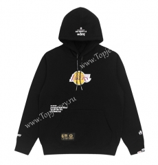 Joint Version Lakers Black Tracksuit Top With Hat-LH
