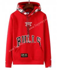 Joint Version Chicago Bulls Red Tracksuit Top With Hat-LH
