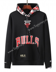 Joint Version Chicago Bulls Black Tracksuit Top With Hat-LH