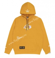Joint Version Lakers Yellow Tracksuit Top With Hat-LH