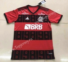 Classic Version Flamengo Home Red and Black Thailand Soccer Jersey AAA-809