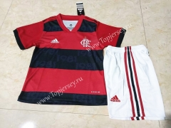 2021-2022 Flamengo Home Red and Black Kids/Youth Soccer Uniform