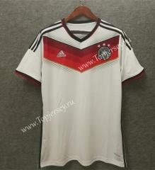 2014 World Cup Retro Version Germany Home White Thailand Soccer Jersey AAA