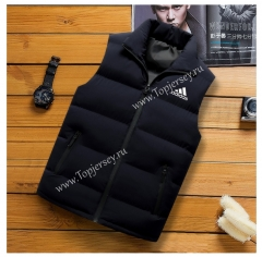 2021-2022 Black Double-Sided Wear Jackets Cotton Vest