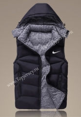 2021-2022 Black Double-Sided Wear Hooded Jackets Cotton Vest