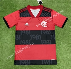 2021-2022 Flamengo Home Red and Black Thailand Soccer Jersey AAA