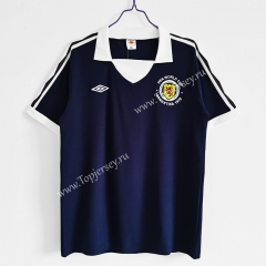 Retro Version 1978 Scotland Home Royal Blue Thailand Soccer Jersey AAA-C1046