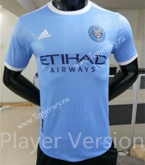 Player Version 2021-2022 New York City Home Blue Thailand Soccer Jersey AAA