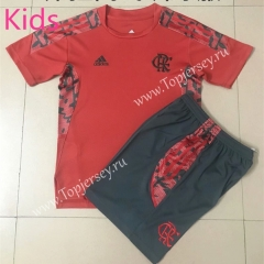 2021-2022 Flamengo Red Kids/Youth Soccer Uniform-AY