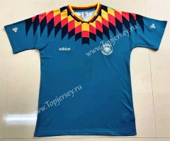 Retro Version 1994 Germany Away Green Thailand Soccer Jersey AAA-908
