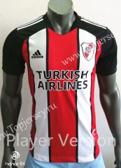 Player Version 2021-2022 CA River Plate 2nd Away Red&White Thailand Soccer Jersey AAA