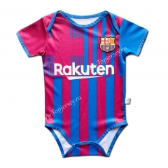 2021-2022 Barcelona Home Red&Blue Baby Uniform