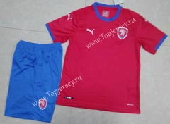2021-2022 Czech Republic Home Red Soccer Uniform -709