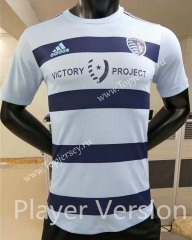 Player Version 2021-2022 Sporting Kansas City Home Blue Thailand Soccer Jersey AAA