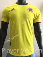 Player Version 2021-2022 Colombia Home Yellow Thailand Soccer Jersey AAA