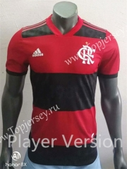 Player Version 2021-2022 Flamengo Home Red and Black Thailand Soccer Jersey AAA