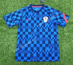 2021-2022 Croatia Blue Training Soccer Jersey AAA-407