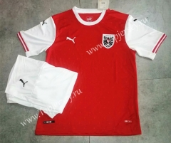 2021-2022 Austria Home Red Soccer Uniform-709