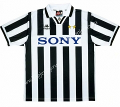 Retro Version 96-97 Juventus Home Black&White Thailand Soccer Jersey AAA-503