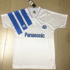 Retro Version 1991-1992 Olympique de Marseille Home White Thailand Soccer Jersey AAA-HR