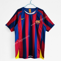 Retro Version 2005-2006 Barcelona Home Red&Blue Thailand Soccer Jersey AAA-C1046