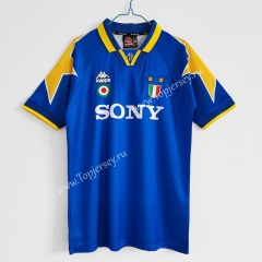 Retro Version 1995-96 Juventus Away Blue Thailand Soccer Jersey AAA-C1046