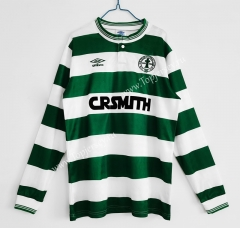 Retro Version 1987-1988 Celtic Home White&Green LS Thailand Soccer Jersey AAA-C1046